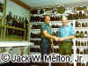 Jack and Tom Dickey in Tom's Relic Room in 1987