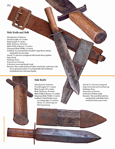 Confederate Side Knives for the Civil War
