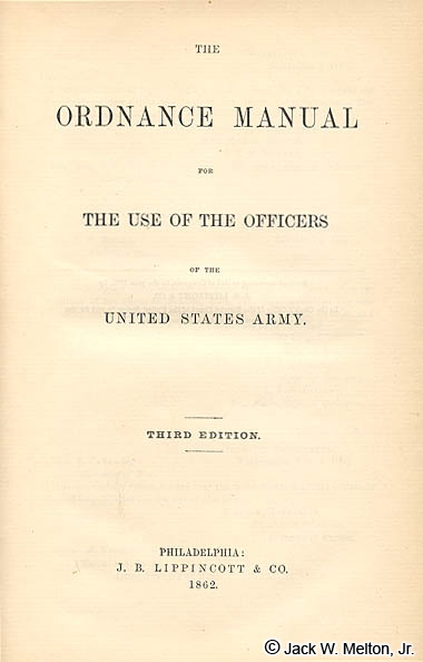 1861 Ordnance Manual (printed in 1862)
